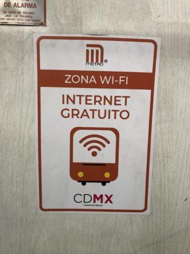 電車内にこの標識があったらWi-Fiが使えるということ
