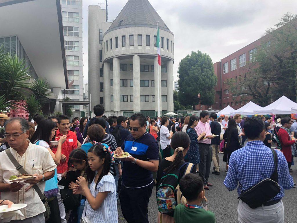 メキシコ大使館での独理記念日を祝うパーティの様子