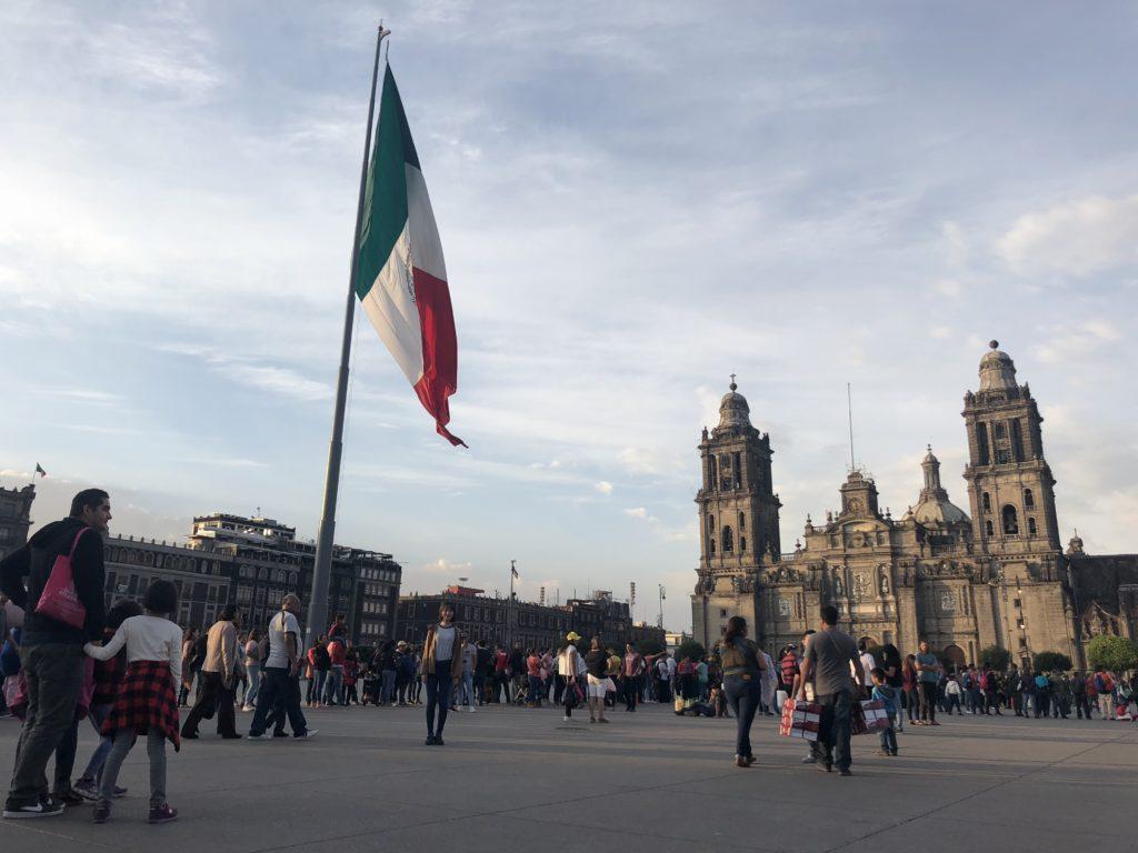 メキシコシティのソカロ。メキシコシティにはメキシコ国立自治大学に留学する人が多い。