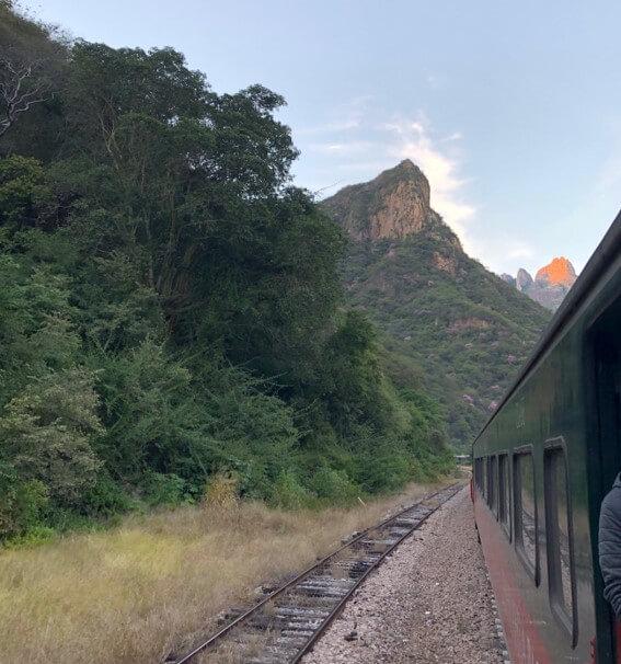 チワワ太平洋鉄道から見える景色。