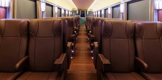 チワワ太平洋鉄道の列車のファーストクラス