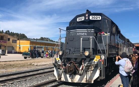 チワワ太平洋鉄道の列車の外観